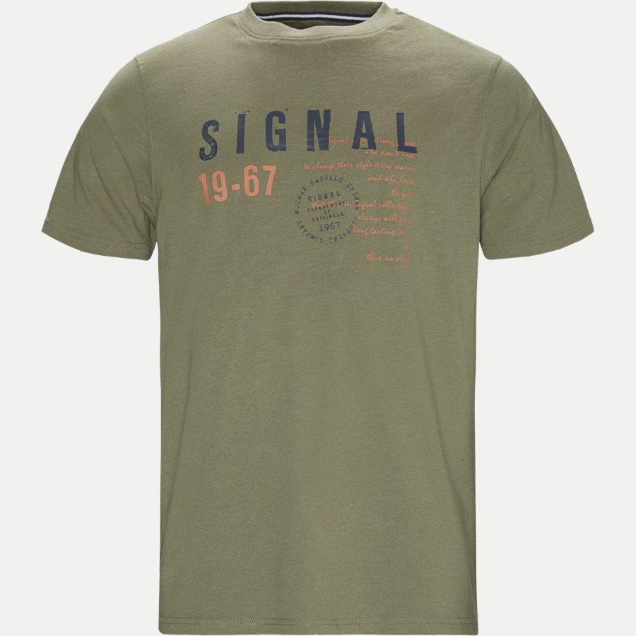 WAINE LOGO - T-shirts - Regular - ARMY MEL - 1